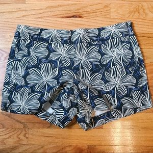 J Crew Women's Chino Shorts - Blue Floral